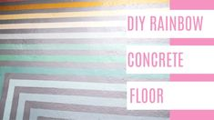 How to paint concrete floors with stripes on your patio or laundry room. I have a step by step tutorial for how to do this project including a video with instructions. Upgrade your interior with a fun paint job Rainbow Nursery, Rainbow Art, Rainbow Colors, Painted Concrete Floors, Painting Concrete, Porch Paint, Porch Steps, Paint Stripes, Diy House Projects