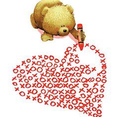 drawing a heart gif Animated Heart, Animated Gif, Tatty Teddy, Teddy Bear, Bisous Gif, Coeur Gif, Corazones Gif, I Love Heart, Glitter Graphics