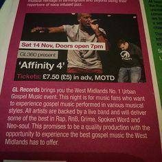3 weeks to go #Affinity4 @thedrumbirmingham support uk talent !! #birmingham #gospel #mission #letsgo