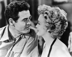 "Marilyn Monroe and Robert Ryan, ""Clash by Night"", 1952."