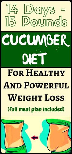 Weightloss Remedies Cucumber Diet For Weight Loss: Lose 15 Pounds In 14 Days! Weight Loss Workout Plan, Best Weight Loss Plan, Diet Plans To Lose Weight, Weight Loss Program, Weight Loss Motivation, Healthy Weight Loss, Weight Loss Tips, How To Lose Weight Fast, Losing Weight