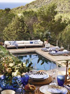 Piscina con vistas a la naturaleza Outdoor Rooms, Outdoor Gardens, Outdoor Living, Outdoor Decor, Zara Home Australia, Garden Pool, Cool Pools, Pool Designs, Cheap Home Decor