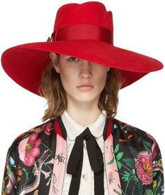 Gucci Red Anita Fedora | #Chic Only #Glamour Always