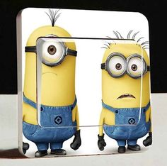 3D Cartoon Film Minions light switch Wall Stickers,Minions Switch stickers, for Kids rooms Fashion decor stickers