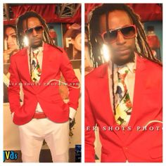 Jah Cure wears festive colors for the Youth View Awards
