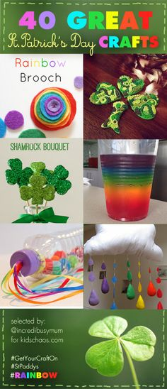 Brilliant inspiration for St Patrick's Day Crafts - over 45 easy and fabulous crafts to try!