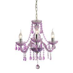 Sterling Industries 144-013 Theatre-3 Light Purple Mini Chandelier - BEYOND Stores