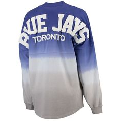 Toronto Blue Jays Women's Oversized Long Sleeve Ombre Spirit Jersey T-Shirt - Royal, Size: XXL Spirit Jersey, Toronto Blue Jays, Hoodies, Sweatshirts, Kids Outfits, Clothes For Women, Long Sleeve, T Shirt, Shopping