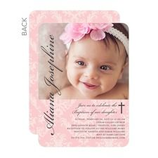 Perfect Angle: Soft Pink Baptism Invitations