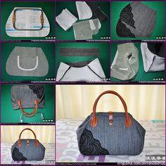 13a15e504ae6 How to Make Stylish Fabric Handbag tutorial and instruction. Follow us   www.facebook.com fabartdiy