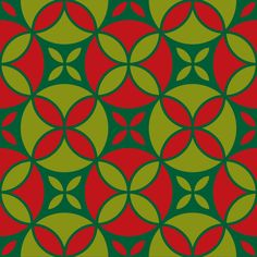 """Grafica di Erika Saetti: """"Red Pattern"""" #pattern #thecolorsoup #flowers #colors #textile #design #style #texture"""