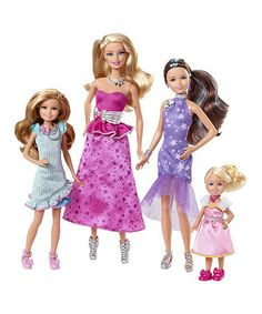 Take a look at this Gala Gown Barbie™ Sister Doll Set by Barbie on #zulily today!