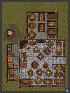 Tavernas       Tavernas são sempre ótimos lugares para um pouco de ação entre ou durante as aventuras dos grupos de heróis em nossas me...