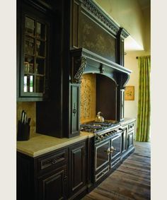 Habersham. My absolute dream kitchen. And it even has my favorite stove & oven...  (Venetian Hearth Side View.)