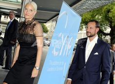 Crown Prince Haakon and Crown Princess Mette-Marit At Opening of Summit