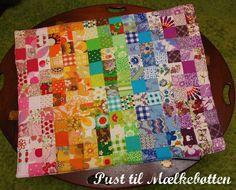 ♥ Pust til Mælkebøtten ♥: Baby patchwork tæppe