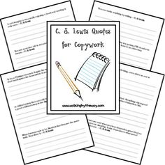 FREE C.S. Lewis Quotes for Copywork!