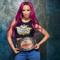 Photos: Current Superstars honor these classic championships ❤ liked on Polyvore featuring sasha banks