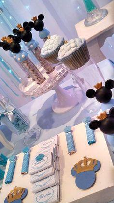 15 Trendy Ideas For Birthday Party Boy Ideas Decoration Mickey Mouse Baby Mickey Mouse, Mickey Mouse Parties, Mickey Party, Prince Birthday Party, Elegant Birthday Party, Mickey Mouse Birthday, Boy Birthday Parties, Birthday Ideas, Prince Party