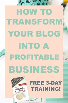 I am so excited to let you know that this training is on the books! If you are a blogger or have thought about blogging, this is a course you will not want to miss. This FREE 3-day video training is jam packed with all of the goodies that you need to get your blog to turn the corner and start making an income! Grab your spot now before the class is full!