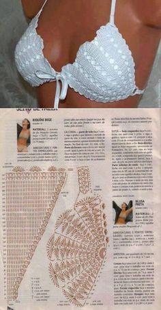 87172c87b57ba купальник: лучшие изображения (448) в 2019 г. | Crochet Bikini ...