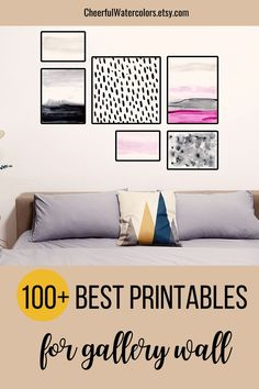 If you want to create a home gallery wall, collage wall, living room or bedroom collage on a budget, check this collection of colorful printable wall art on Etsy. Here you will find hand-painted watercolor prints as well as digitally created wall decor. Just download, print and frame! #gallerywall, #printablewallart, #watercolorprints Watercolor Art Paintings, Watercolor Print, Printable Paper, Printable Wall Art, Gallery Wall Staircase, Colorful Wall Art, Teen Room Decor, Mid Century Modern Art, Photo Wall Collage