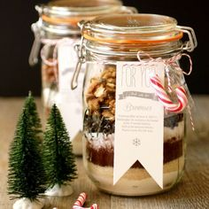 Brownies en bocaux {blog.minimom.fr}