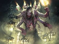 Card art for the Shadows over Innistrad set of Magic: The Gathering. The world of Innistrad is Magic's gothic horror realm and I first had the chance to. Lamplighter of Selhoff - MTG Fantasy Monster, Monster Art, Gothic Horror, Horror Art, Dark Fantasy Art, Zombies, Beast Creature, Mtg Art, Art Ancien