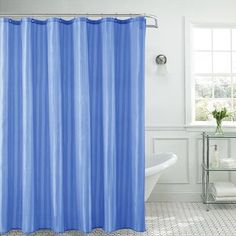 Shower Curtains You'll Love in 2020 | Wayfair Lined Curtains, Colorful Curtains, Hanging Curtains, Sheer Curtains, Luxury Shower Curtain, Shower Curtain Hooks, Shower Liner, Shower Rod, Striped Shower Curtains