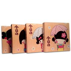 Kawaii Kokeshi Japanese Stationery Mini Notebooks - 4 Pc Set My Sugar Bits http://www.amazon.com/dp/B00WJE1G7G/ref=cm_sw_r_pi_dp_aLEovb1X85XZE