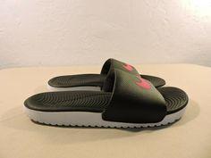 c4e00de2f2f7 Nike Women s Sandals Size 5 Kawa Slides - Black Pink 834588-060 Flip Flops