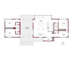 Dogtrot Modern Cabin Plans