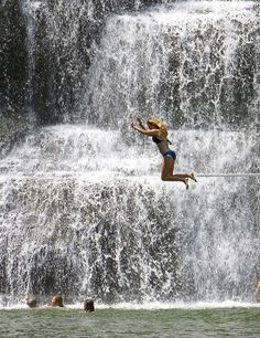 Ah! We have to go here :)... Waterfall swimming near the Finger Lakes