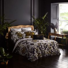 Gold Duvet Cover Floral Luxury Ideas