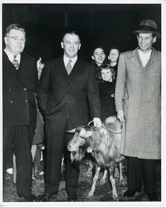 1946 - Future President JFK with a goat!