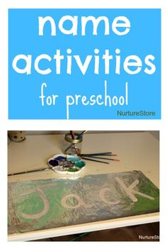 classroom ideas for preschool, name activities preschool, preschool name writing, name writing kids, teaching name writing, name writing activities, preschool painting, handson learn, learning names preschool