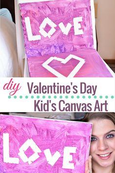 DIY: Valentine's Day Kid's Canvas Art