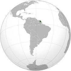French Guiana (orthographic projection).