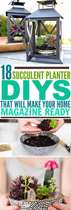 These 19 Succulent Planter DIYs Are EVERYTHING! They are such a wonderful and quick way to dress up your home while adding a bit of life. Love them all!