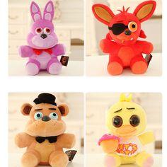 4pcs FNAF Five Nights at Freddy's FREDDY & FOXY & Bonnie &Chica Plush Toy doll #Unbranded