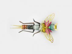 Recycled Paper Insects-1B