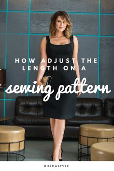 Although we calculate our patterns for several sizes, you may fall in love with a style only to find the pattern does not include your size. No problem – follow the examples below if you need to lengthen a half/petite size pattern to a standard size, or a standard size to a tall size.