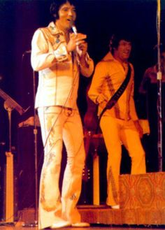 Elvis and Charlie Hodge