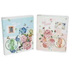 Bundle 2albums Pioneer Stc46 Classic 3 Ring Photo Album With Solid