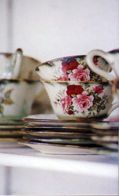 the only way to drink tea is out of beautiful tea cups