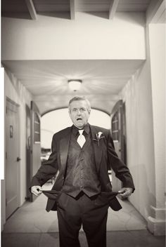 father of the bride, post wedding shot. My dad will  pull this off flawlessly.