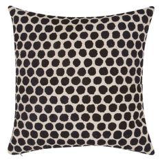 Kate Spade New York Yorkville Embroidered Dot Pillow, Black