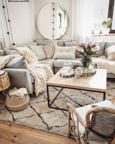 Inspirational Modern Living Room Decor Ideas l&; Inspirational Modern Living Room Decor Ideas l&; Cozy Living Rooms, New Living Room, Apartment Living, Living Room Decor, Decorate Apartment, Apartment Hacks, Living Room Inspiration, Living Room Designs, Decor Ideas