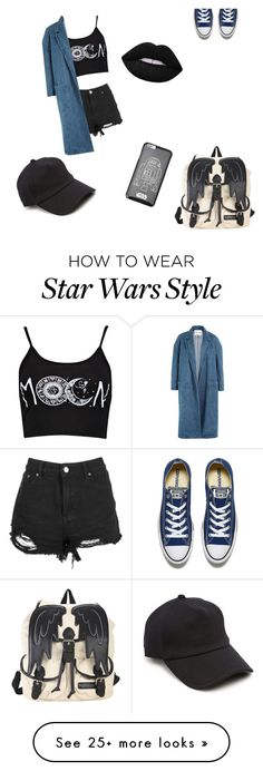 """"""""""" by klaravinther on Polyvore featuring Converse, Sandy Liang, Forever 21, Lime Crime and rag & bone"""