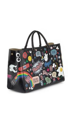 4b53f628b Ebury Maxi Featherweight All Over Wink Stickers Tote in Black Circus  Leather. Anya HindmarchDiaper ...